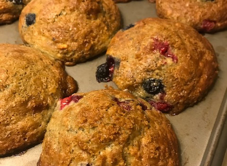 Poppyseed Berry Muffins with Pistachios