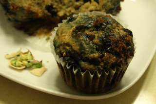 One Bowl Wild Blueberry Pistachio Oatmeal Muffins