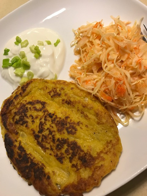pumpkin potato pancakes