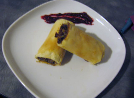 Chicken Phyllo Spring Rolls with Indian Inspired Cranberry Chutney