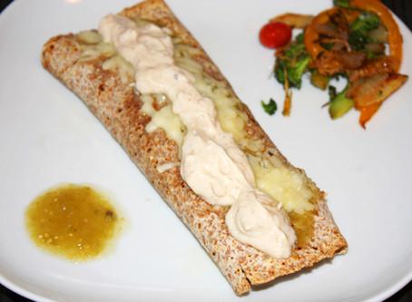 Chicken & Swiss Chard Verde Enchilada [..] w/Tree Nut Shallot Sauce