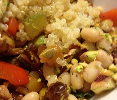 Vegan Delish Quinoa Dish…low fat…low sodium…Full of Fibre