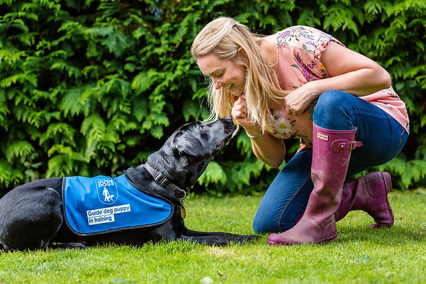 Samantha Grant - voluntee puppy walker for Guide Dogs for the blind
