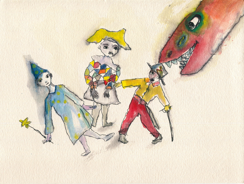 maschere e drago rosso I