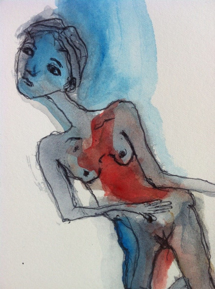 Figura rossa e blu