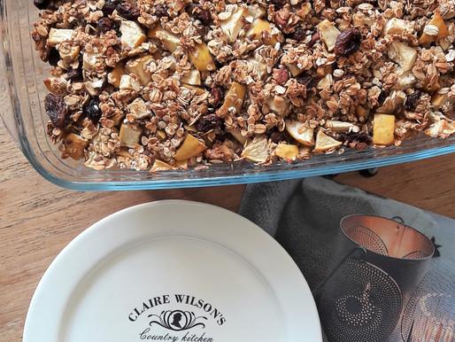 Gebakken havermout uit de oven met appel - Baked apple oats