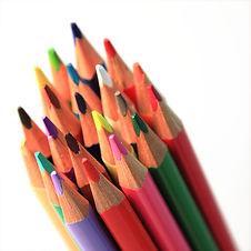Grupo de lápis coloridos