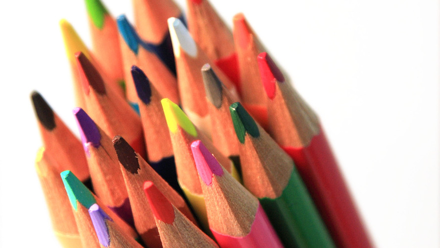 Group of Colored Pencils