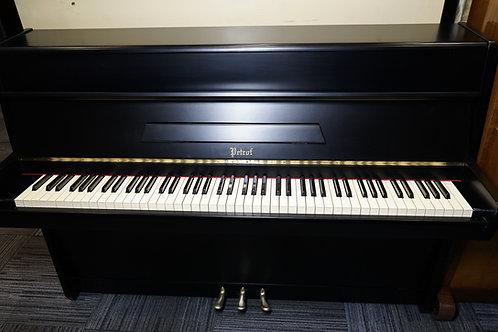 Petrof. Upright piano.