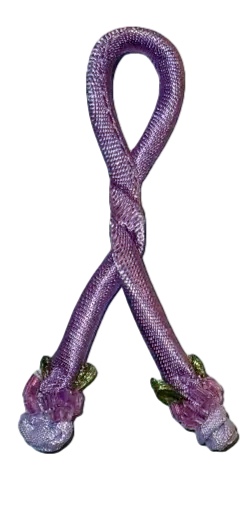 Purple Rainbow Connection - Rose Knot - Set of 2