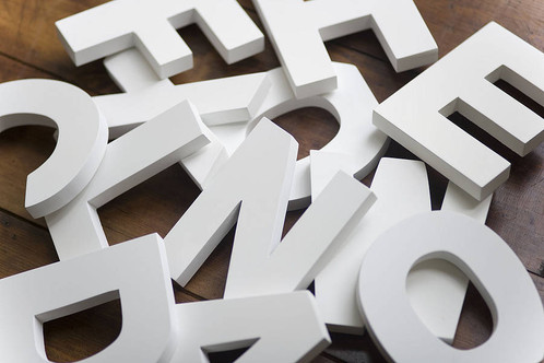 mdf letters numbers symbols painted in white color various fonts and sizes thickness ranges from 2mm to 2cm shapes and symbols can be custom made