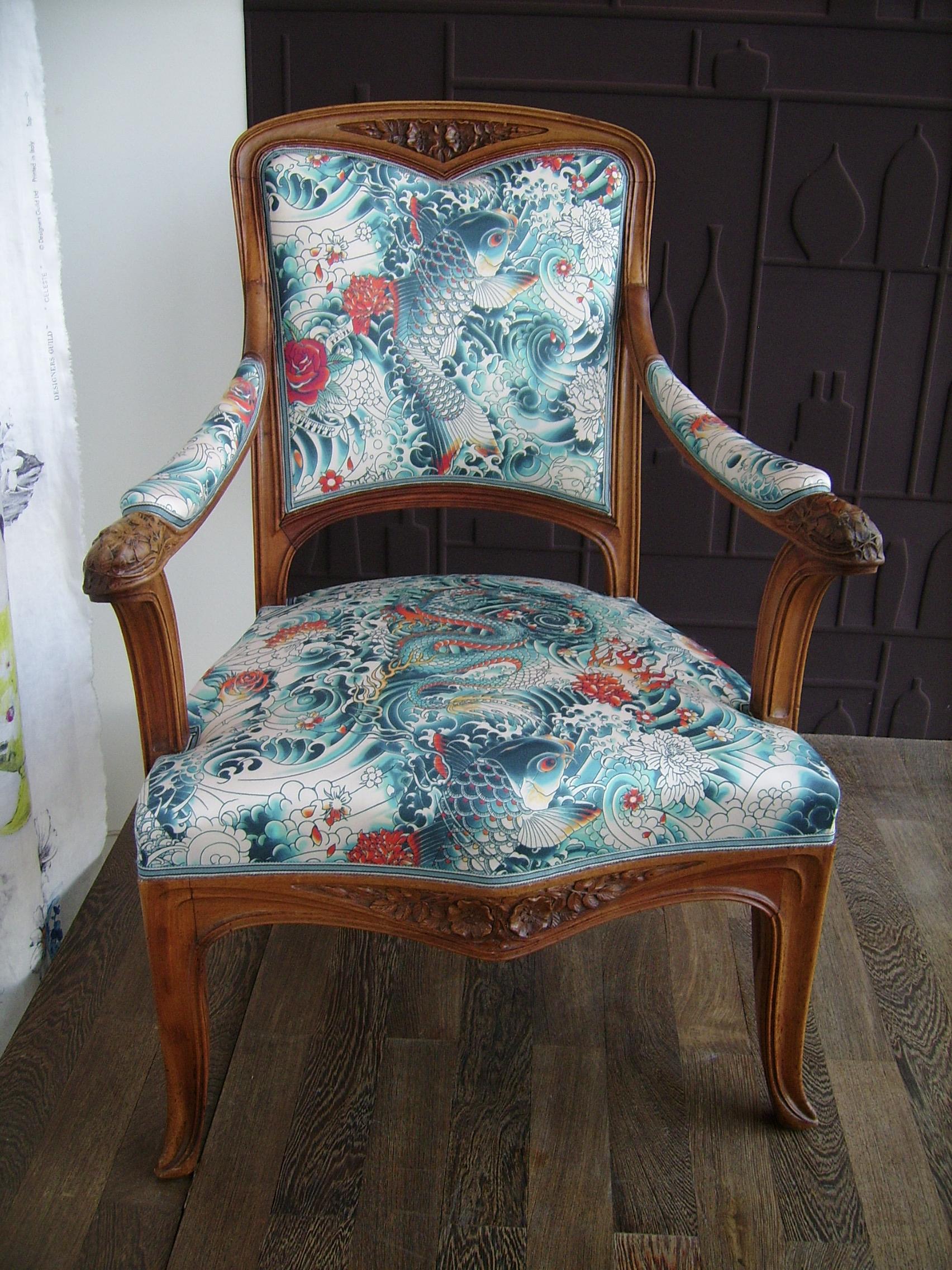 fauteuil art nouveau ecole de nancy.