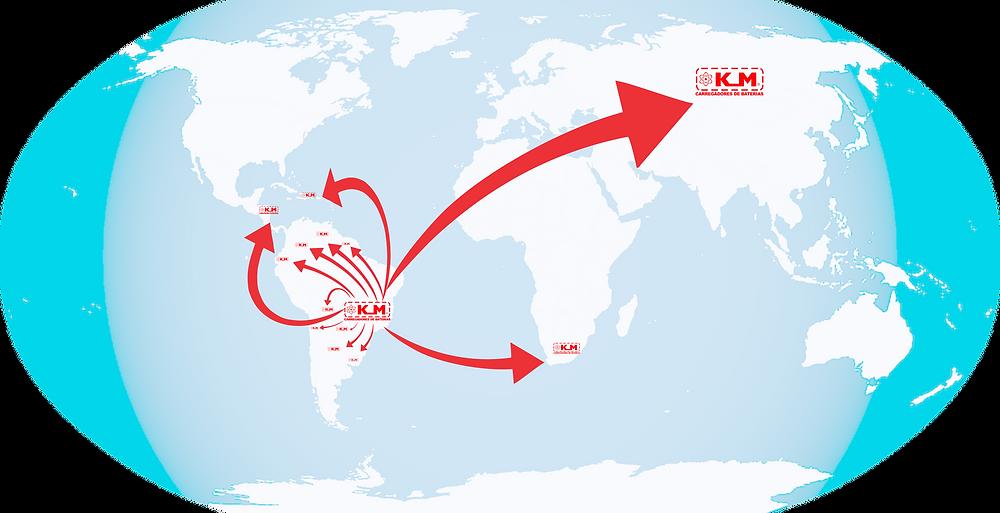 KM Carregadores de Baterias está em expansão internacional.