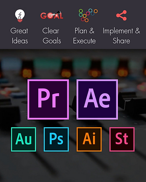 Adobe Creative Cloud Software Logos