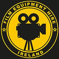 Film Equipment Hire Yellow on black logo of Film Camera