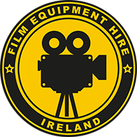 Film Equipment Hire Yellow on black logo of Film Camera