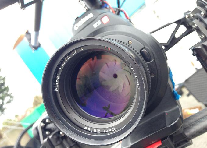 Close Up of Digital Camera Lens