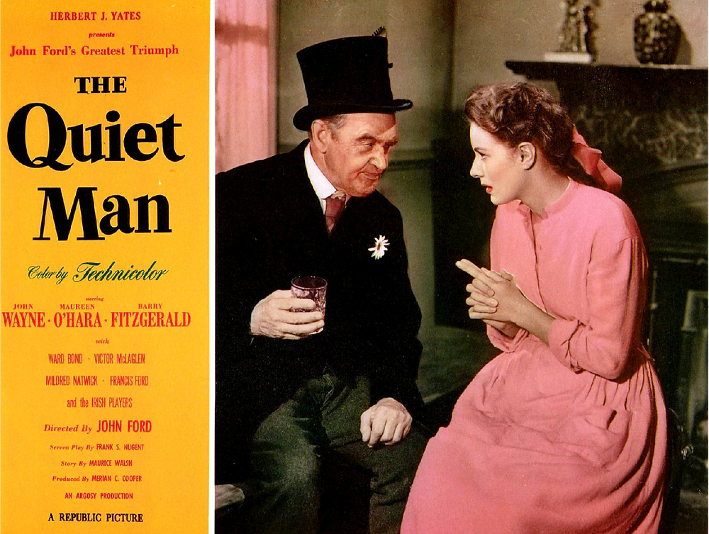 Maureen O'Hara and Barry Fitzgerald from The Quiet Man