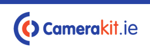 Camerakit logo blue and orange text on white