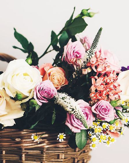 花のバスケット