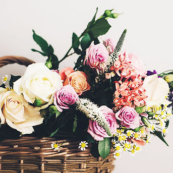 Basket of Flowers at The Manor