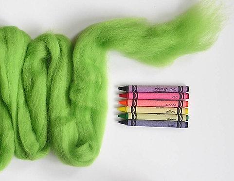 Margarita Green Corriedale Wool Roving   1 oz.