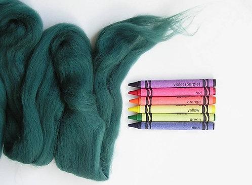 Evergreen Merino Wool Roving   1 oz
