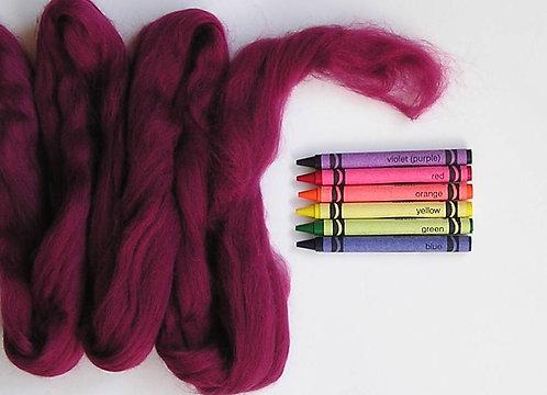 Cranberry Merino Wool Roving   1 oz
