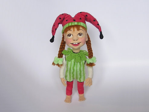 Molly - A Needle Felted Jester