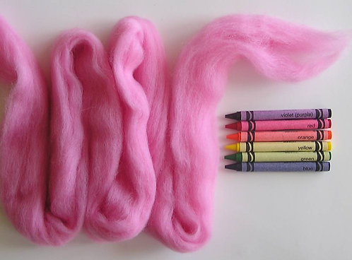 Cotton Candy Corriedale Wool Roving   1 oz.