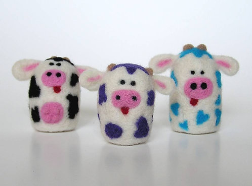 Spotted Cow Fuzz Butts Felting Kit