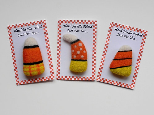 Candy Corn Pin Felting Kit
