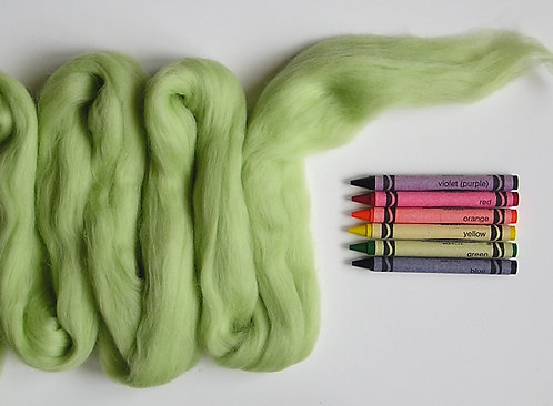 Key Lime Merino Wool Roving   1 oz