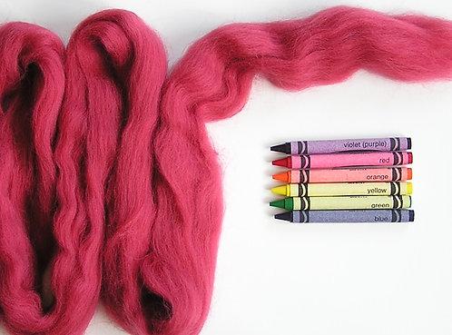 Cinnaberry Corriedale Wool Roving  1 oz.