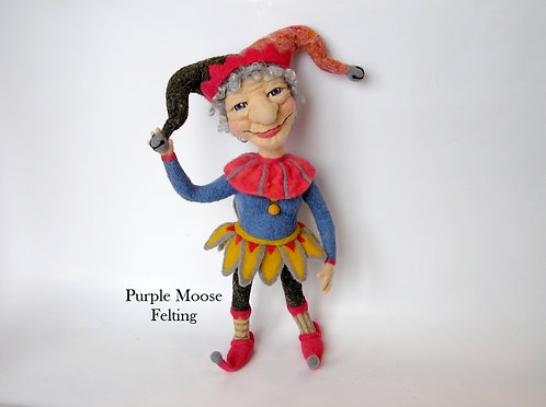 Sandy - A Needle Felted Jester