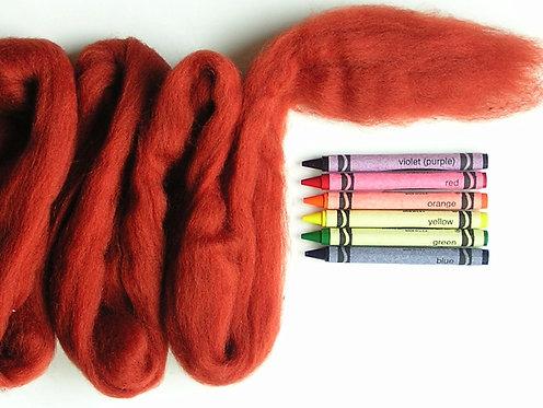 Nutmeg Corriedale Wool Roving   1 oz.