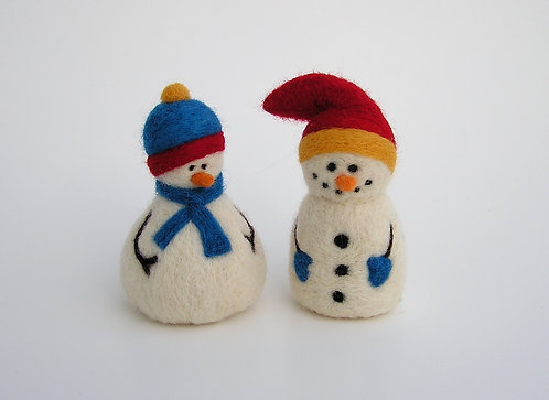 Snazzy Snowmen Felting Kit