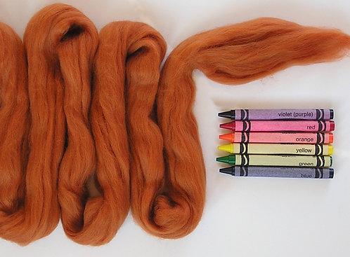 Cinnamon Merino Wool Roving   1 oz