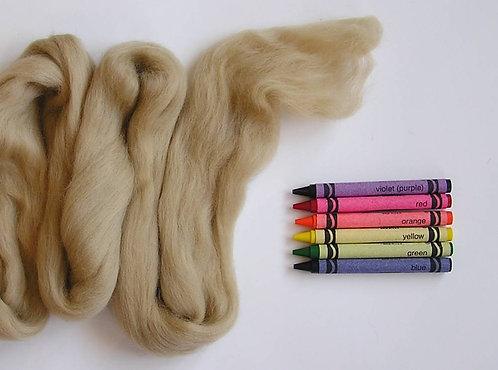 Taupe Merino Wool Roving   1 oz