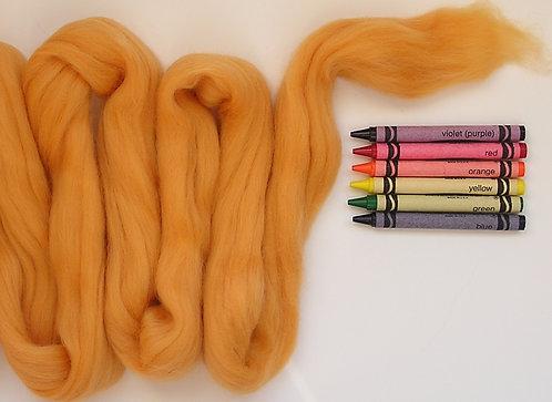 Dark Apricot Merino Wool Roving   1 oz