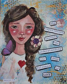 Experiences deep fullness of Love card.j