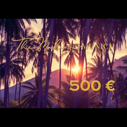 Wertgutschein über 500 €
