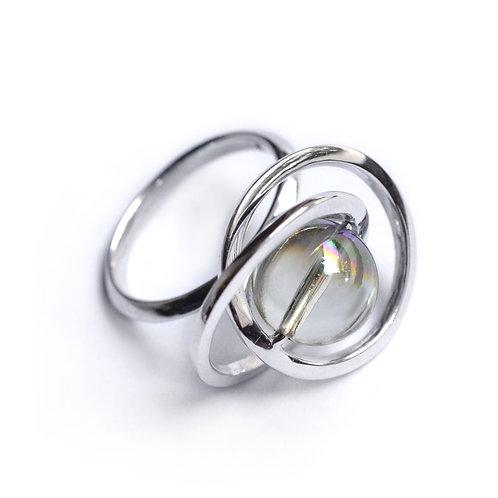 The Orbit of Moon Swirl Ring