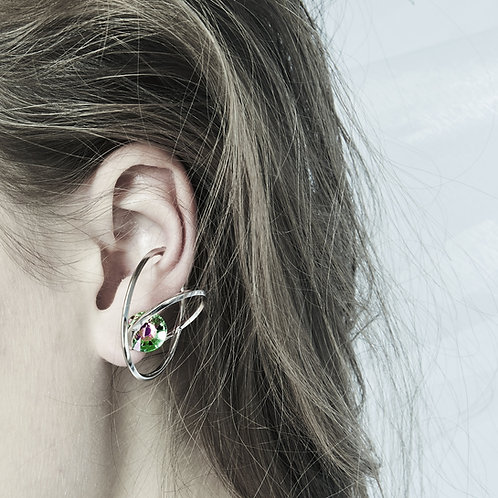 Altered-Native ear cuff Green (one side for left ear)