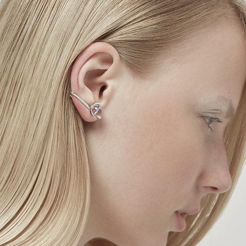 The Orbit of Moon Clip Earrings