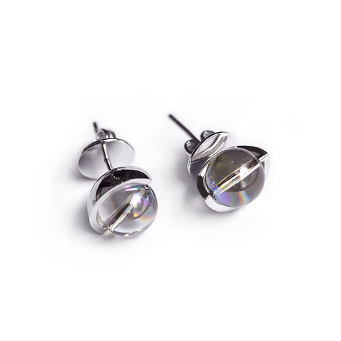 The Orbit of Moon Stud Earrings
