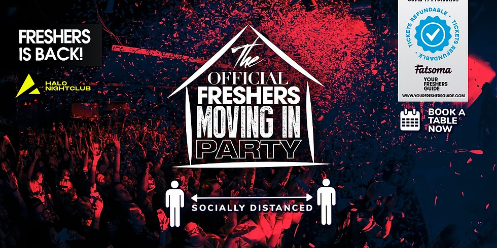 Freshers Moving in Party at Halo // Socially Distanced - Bournemouth Freshers 2020