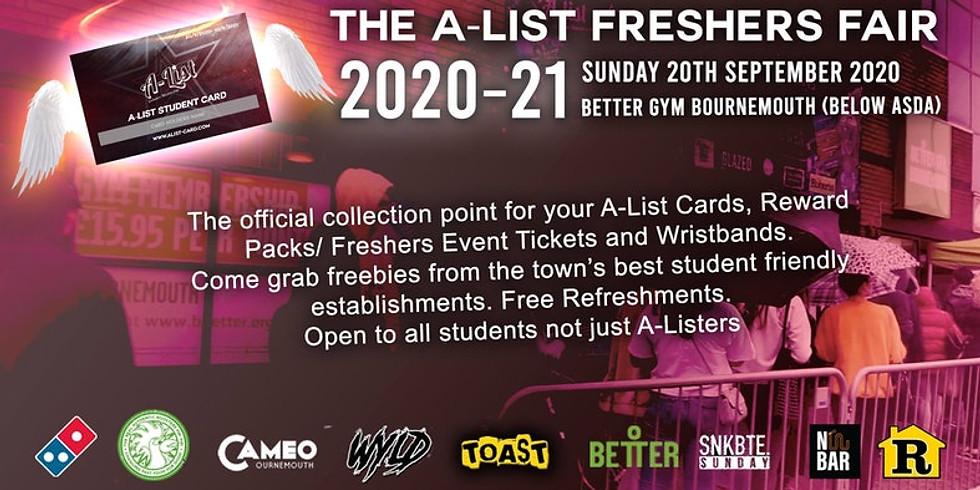 A-List Freshers Fair Bournemouth 2020