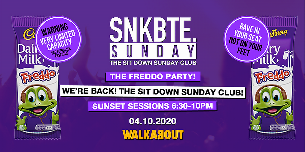 Snakebite Sundays @Walkabout // The Freddo Party // The Sit Down Sunday Club!