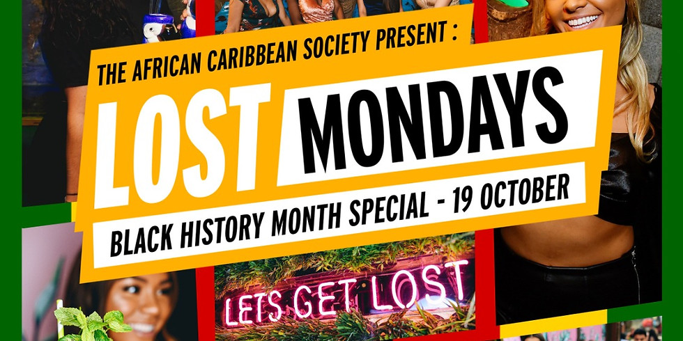 ACS are proud to announce our Black History Month Special Event @lostmondays!